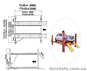 Подъемник четырехстоечный электро гидравлический, под сход/развал на 5.5т.  - Изображение #5, Объявление #375072