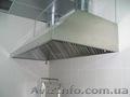 Зонт вытяжной пристенный,  зонт островной с фильтрами из нержавеющей стали